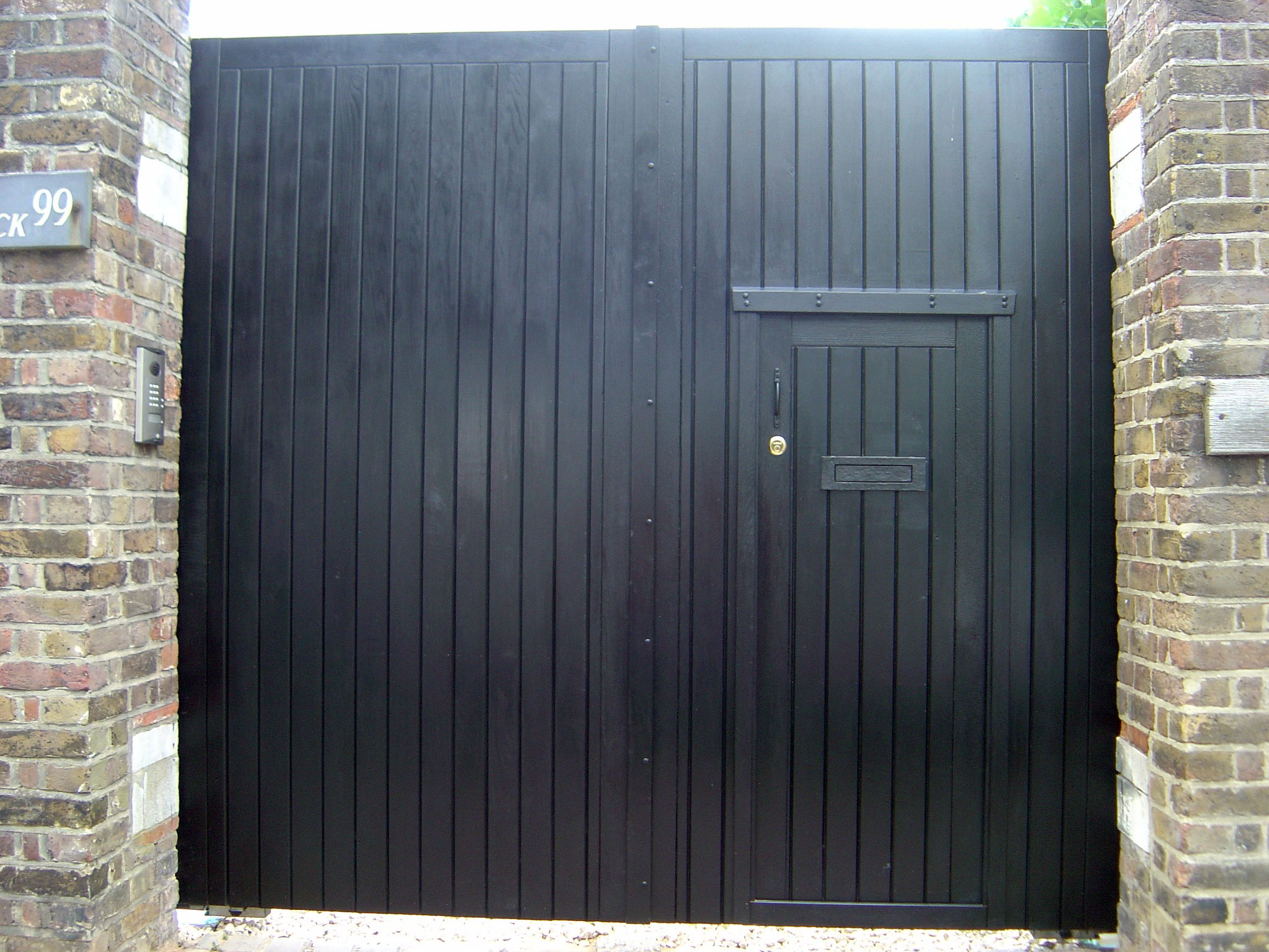 Wood Gate Inset Door
