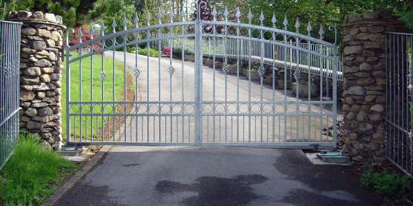 gatepower silver metal gates