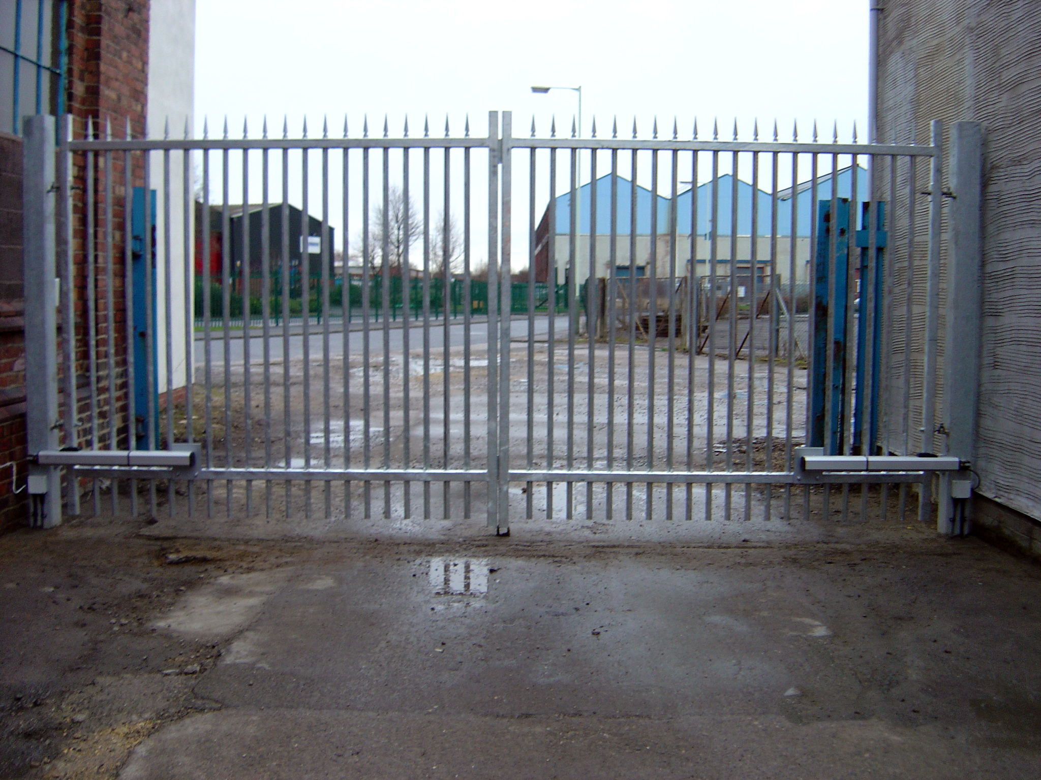 Security Gates For Industrial Use Build Installation